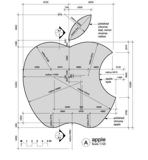 apple logosu teknik resim örnekleri