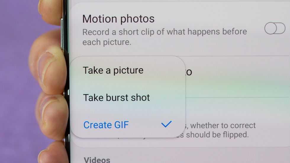 galaxy-s10 Anında bir GIF oluşturun