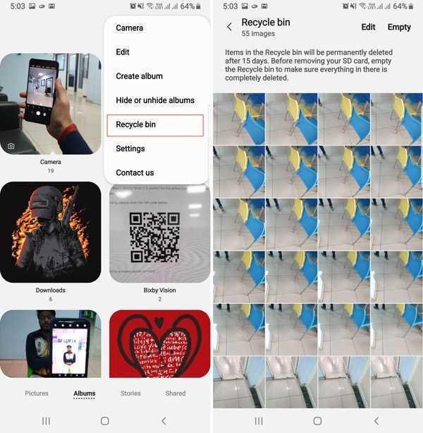 Samsung Galaxy A50 Silinmiş Resimleri Kurtarma