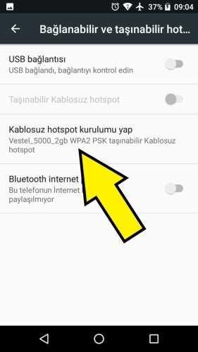 Vestel internet paylaşımı